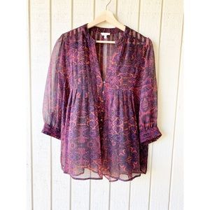 Joie paisley button down blouse size S